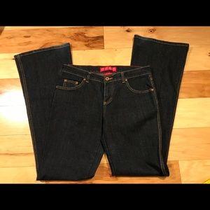 Glo jeans. Darkwash. Size 7 long, boot cut